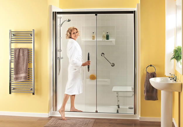 Walk in shower module